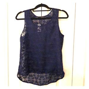 The Limited navy blue top, size S